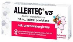 ALLERTEC WZF 10mg x 7 tabletek