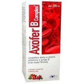 Axofer B Complex płyn o smaku żurawiny i dzikiej róży 250ml