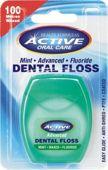 BEAUTY FORMULAS ACTIVE Nici dentystyczne miętowe woskowane z fluorem 100m