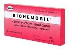 BIOHEMORIL czopki przeciw hemoroidom 2g x 6 sztuk