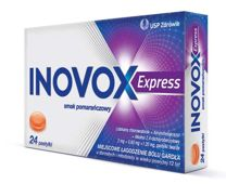 Inovox Express smak pomarańczowy x 24 pastylki do ssania