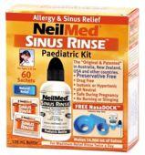 SINUS RINSE Pediatric Kit Zestaw podstawowy dla dzieci (60 saszetek)