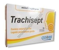 TRACHISEPT x 16 past. miód-cytryna - data ważności 31-08-2017r.