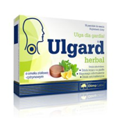 Ulgard Herbal o smaku ziołowo-cytrynowym x 16 pastylek do ssania - data ważności 31-08-2017r.