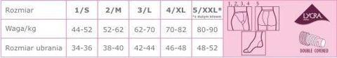 Veera Rajstopy przeciwżylakowe 40 DEN kolor naturalny rozmiar 4 x 1 sztuka