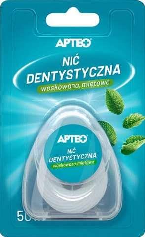 APTEO CARE Nić dentystyczna woskowana miętowa 50m