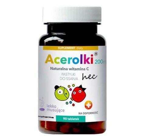 Acerolki 200mg naturalna witamina C x 90 tabletek