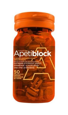 Apetiblock pomarańcz-limonka x 50 tabletek musujących do ssania