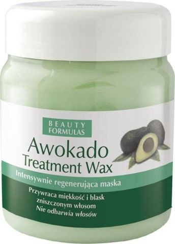 BEAUTY FORMULAS WAX Awokado wosk do włosów 500ml
