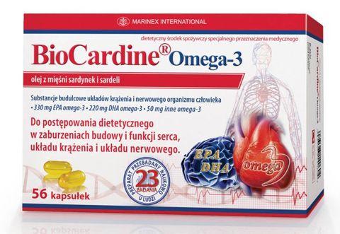 BIOCARDINE OMEGA-3 x 1op (56 kapsułek)
