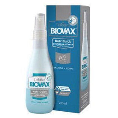 BIOVAX Dwufazowa odżywka bez spłukiwania Keratyna+Jedwab 200ml