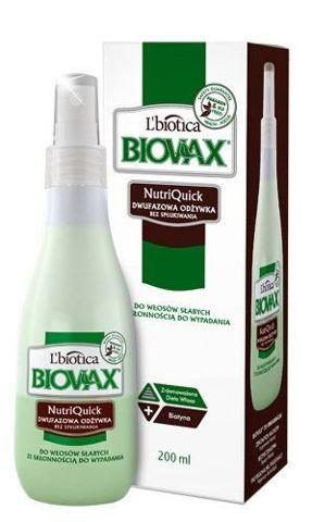 BIOVAX Dwufazowa odżywka bez spłukiwania do włosów słabych ze skłonnością do wypadania 200ml