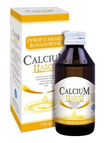 CALCIUM HASCO Syrop o smaku bananowym 150ml