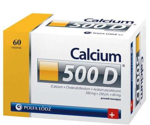 Calcium 500 D proszek musujący x 60 saszetek