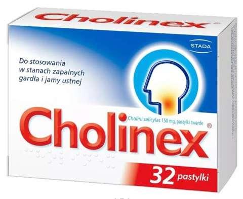 Cholinex x 32 pastylki do ssania