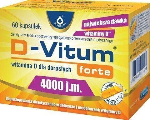D-VITUM FORTE 4000 j.m witamina D dla dorosłych x 60 kapsułek