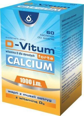 D-Vitum Forte Calcium x 60 tabletek do ssania