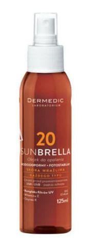 DERMEDIC Sunbrella Olejek do opalania SPF20 125ml