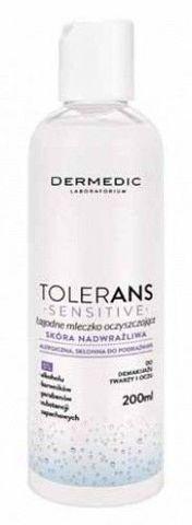 DERMEDIC Tolerans Sensitive łagodne mleczko oczyszczające 200ml