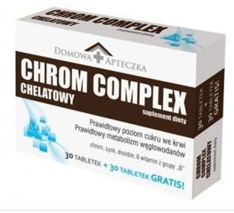 DOMOWA APTECZKA CHROM CHELATOWY Complex x 30+30 tabletek