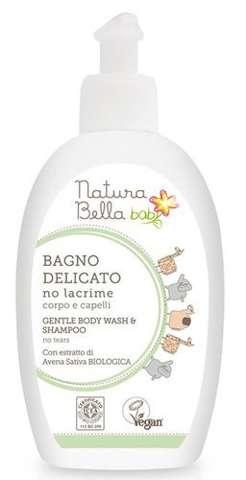 Delikatny płyn do kąpieli i szampon 2w1 250ml