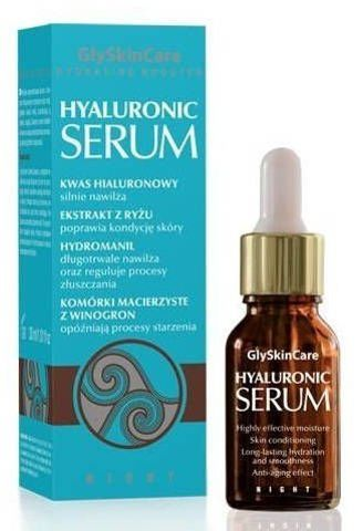 GLYSKINCARE Hyaluronic serum 30ml + Maseczka nawilżająca 50g Gratis! - data ważności maski 31-08-2017r.