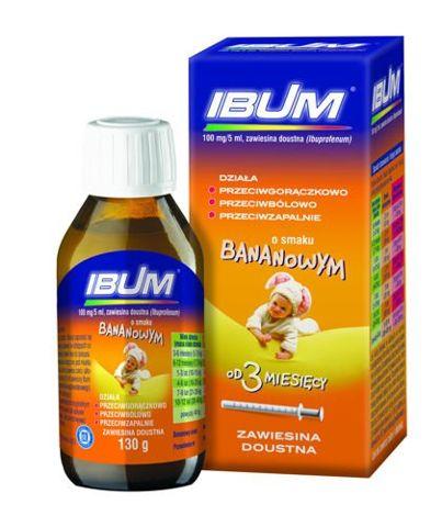 IBUM 0,1g/5ml zawiesina 130g sm. bananowy