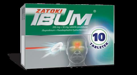 IBUM ZATOKI 200mg+30mg x 10 tabletek