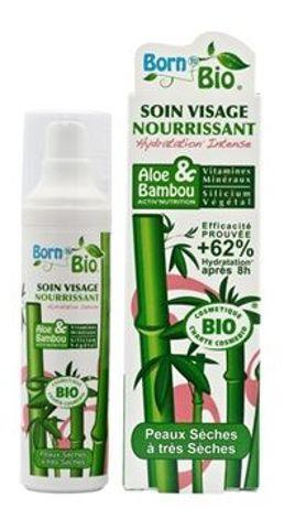 """KREM do twarzy BIO """"Aloes i Bambus"""" odżywczy 50ml"""