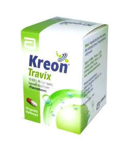 KREON TRAVIX  150mg (10 000 j.) x 50 kapsułek