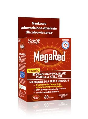 MEGARED Omega-3 Krill Oil 300mg x 60 kapsułek