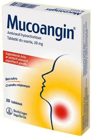 MUCOANGIN x 20 tabletek do ssania