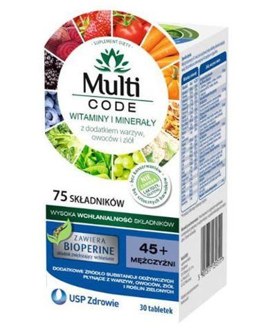 MULTICODE Mężczyźni 45+ x 30 tabletek