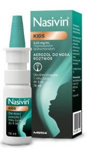 NASIVIN Soft 0,025% aerozol do nosa 10ml