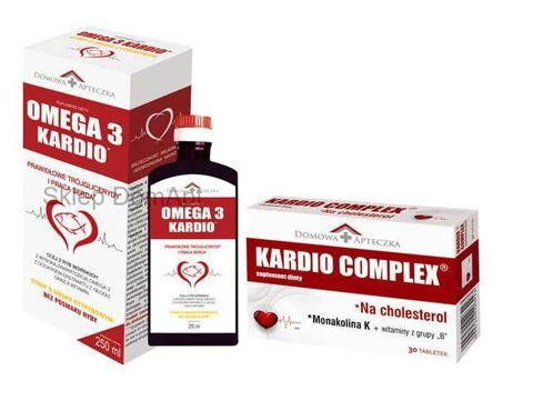 OMEGA 3 KARDIO Syrop 250ml + KARDIO COMPLEX x 30 tabletek