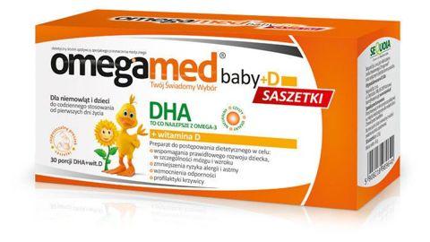 OMEGAMED BABY+D DHA x 30 saszetek