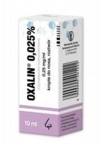OXALIN 0,025% krople 10ml
