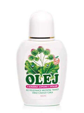 Olej z korzenia łopianu z ziołami do pielęgnacji włosów 100ml