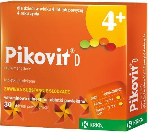 PIKOVIT D x 30 tabletek do ssania od 4-go roku życia