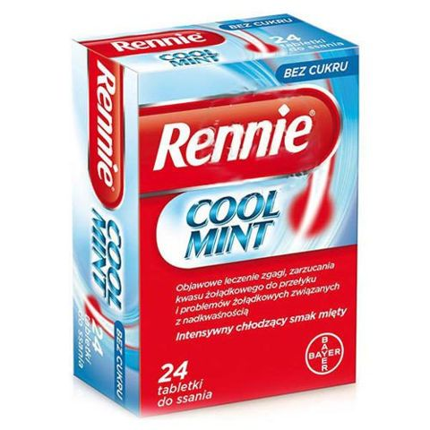 RENNIE COOL MINT x 24 tabletki do ssania