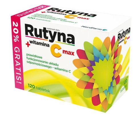 RUTYNA + witamina C x 120 tabletek