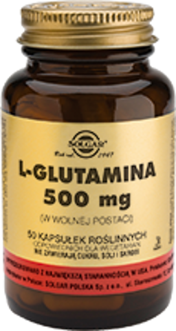 SOLGAR L-Glutamina 500mg x 50 kapsułek