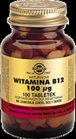 SOLGAR Naturalna Witamina B12 100μg x 100 tabletek