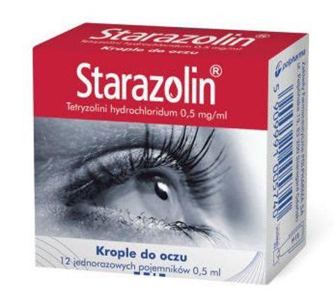 STARAZOLIN 0,05% krople x 12 minimsów