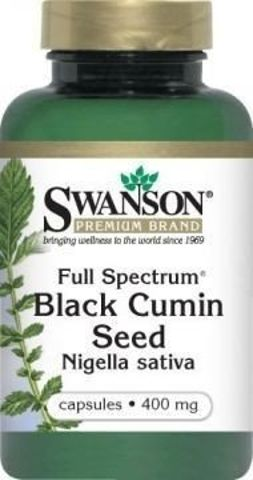SWANSON Full Spectrum Nasiona czarnego kminu 400mg x 60 kapsułek