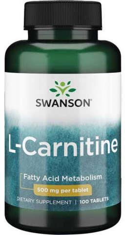 SWANSON L-karnityna 500mg x 100 tabletek