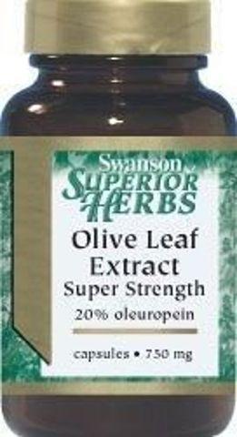 SWANSON Olive Leaf Extract (Liść oliwny) 750mg x 60 kapsułek