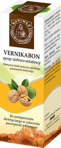 VERNIKABON Syrop miodowo-ziołowy 130g bez cukru