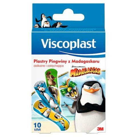 VISCOPLAST Plastry Pingwiny z Madagaskaru x 10 sztuk