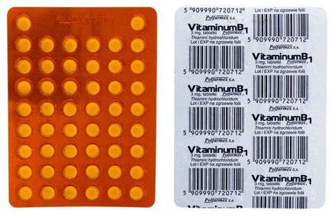 VITAMINUM B1 3mg x 50 tabletek
